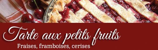 Tarte aux petits fruits sans gluten