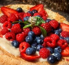 Génoise aux petits fruits et crème pâtissière