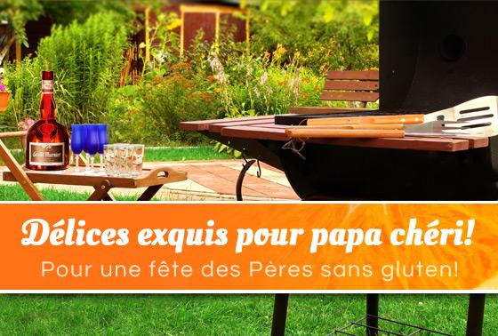 Délices exquis pour papa chéri. Pour une fête des Pères sans gluten!