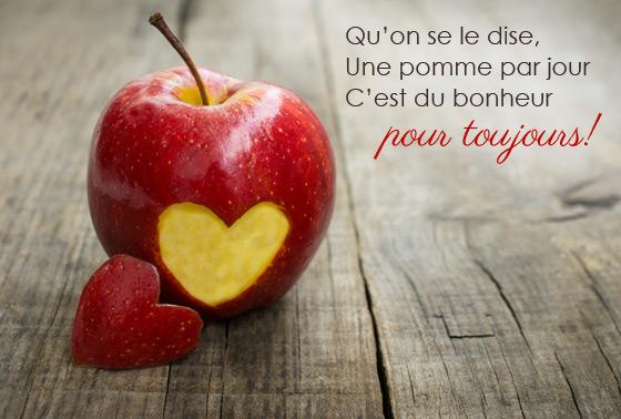 Qu'on se le dise, Une pomme par jour