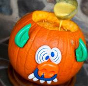 Potage citrouille et millet pour l'Halloween