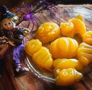 Gelée de fruits santé en forme d'Halloween
