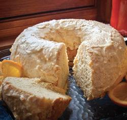 Gâteau chiffon à l'orange sans gluten