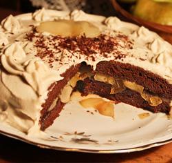 Gâteau au chocolat et aux poires sans gluten