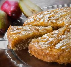 Recette de génoise aux poires et à l'érable sans gluten