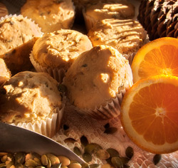 Muffins orange-citrouille