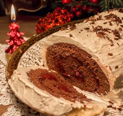Bûche de Noël à la crème glacée