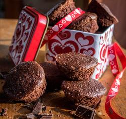 Mini-brownies sans gluten