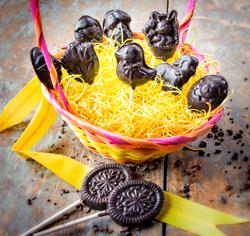 Sucettes au chocolat à la tire d'érable