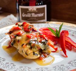 Poitrines de poulet aromatisées au Grand Marnier