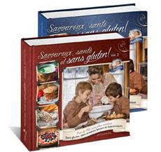 Couverture des deux livres de recettes sans gluten