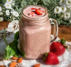Smoothie aux fraises sans gluten