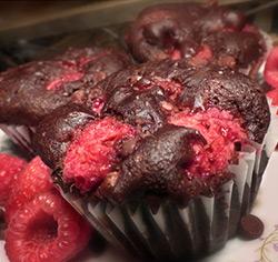 Muffins choco-framboises