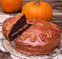Gâteau choco-citrouille aux pacanes sans gluten