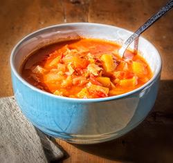 Soupe réconfortante aux légumes sans gluten