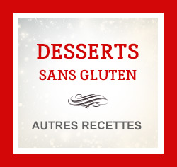 Suggestions de recettes de desserts sans gluten