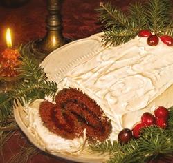 Bûche de Noël choco-framboise sans gluten