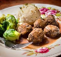 Ragoût de boulettes végétariennes sans gluten