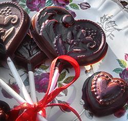 Sucettes au chocolat sans gluten