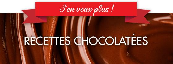 Autres recettes chocolatées sans gluten