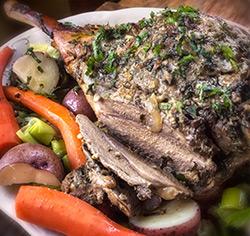 Gigot d'agneau à la  menthe sans gluten