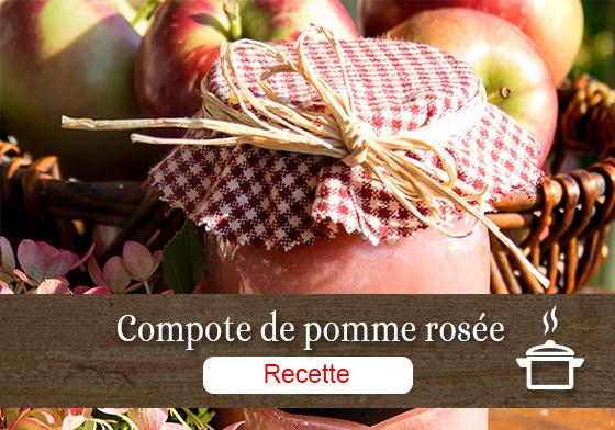 Recette de compote de pomme rosée