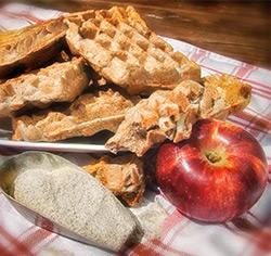 Gaufre aux pommes  et au sarrasin