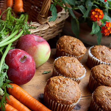 Muffins pommes-carottes