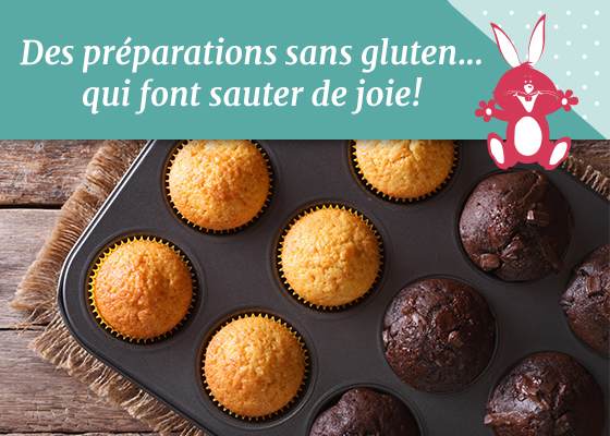 Des préparations sans gluten qui font sauter de joie !