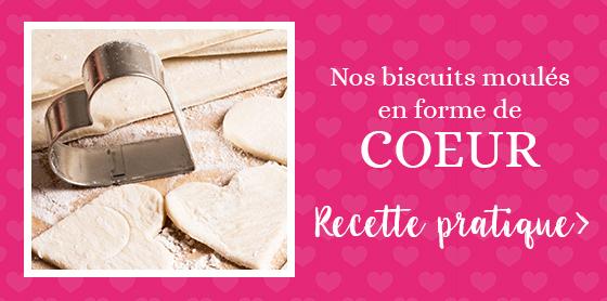 Nos biscuits moulés en forme de coeur pour la Saint-Valentin