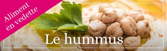 Aliment vedette : le hummus