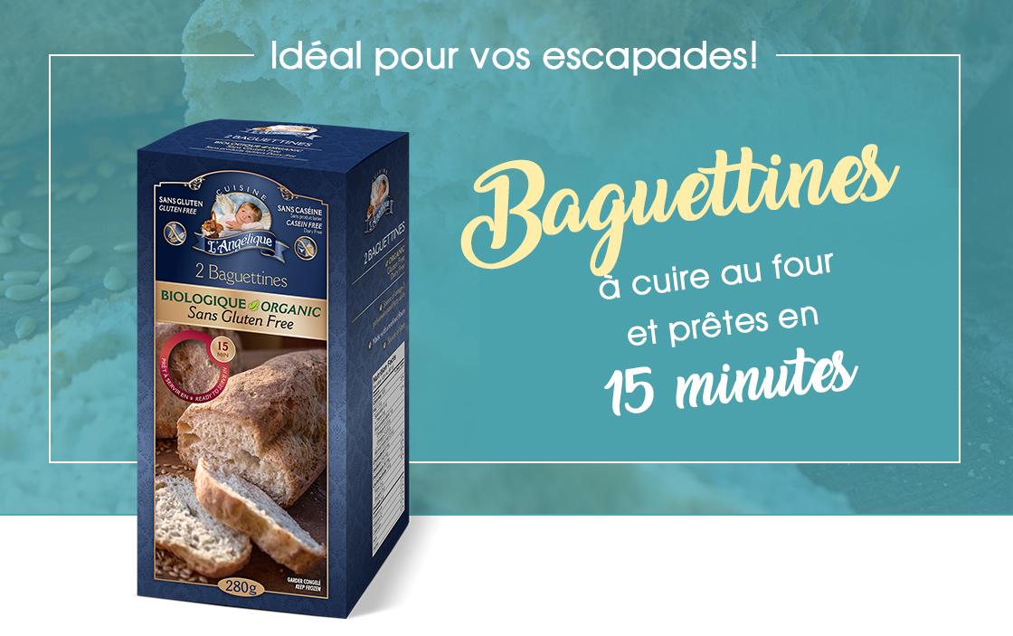 Pain baguettines de Cuisine l'Angélique. Délicieux et sans gluten