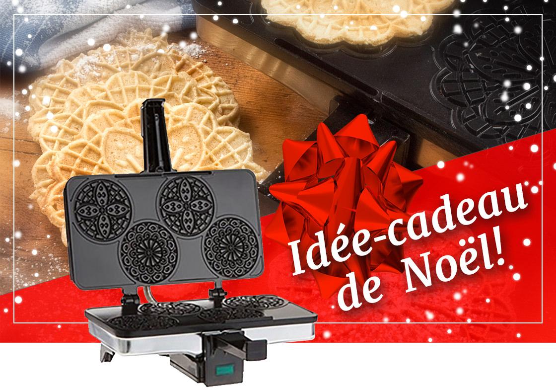 Idée-cadeau : Presse à pizzelle