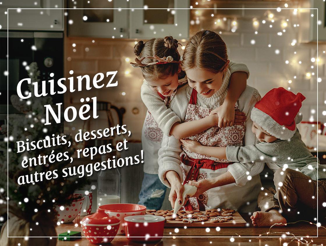 Cuisinez Noël, Biscuits, desserts, entrées, repas et autres suggestions sans gluten!