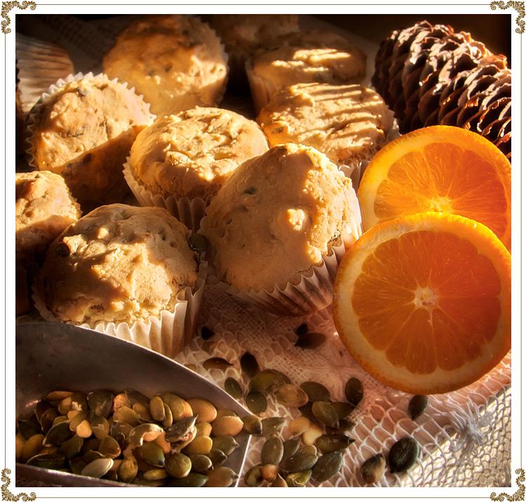 Recette de muffins l 39 orange et la citrouille sans - Graines de citrouille grillees au four ...