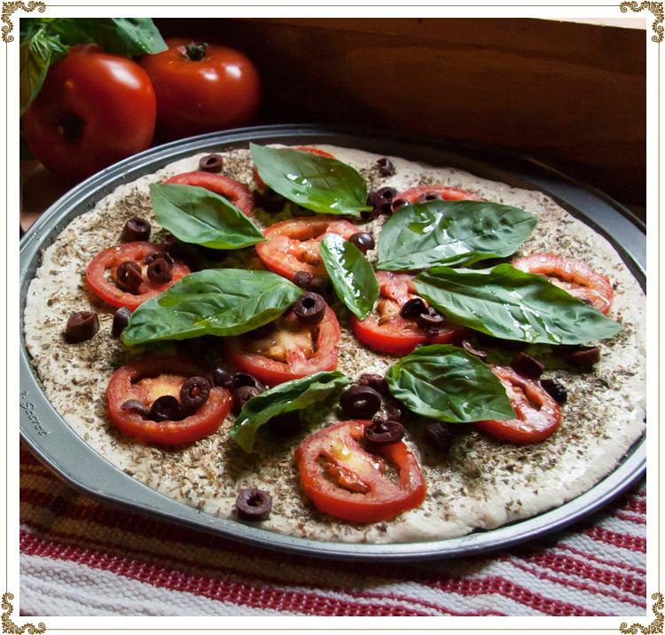Pizza tomates et basilic sans gluten sans cas ine et bio - Basilic seche a ne pas consommer ...