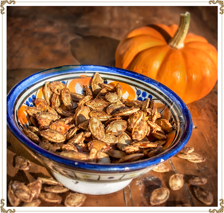 Recipe Spiced Pumpkin Seeds with Maple Gluten-free, dairy-free (casein-free), hypotoxic and vegan  By: Cuisine l'Angélique