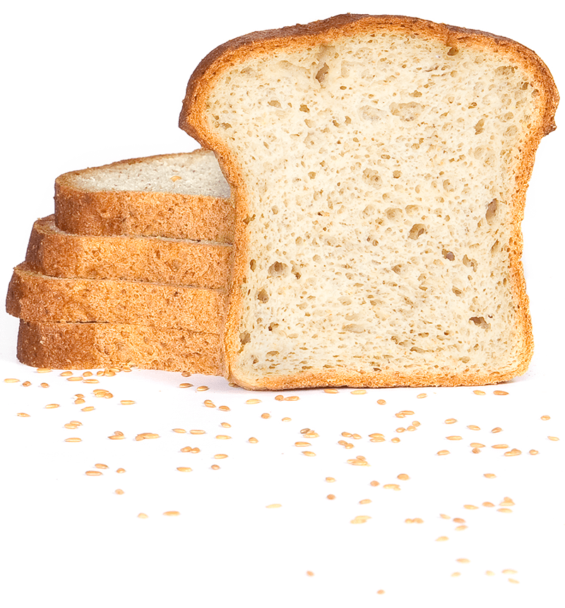 L'Angélique white sliced bread. Organic, gluten-free and dairy-free.