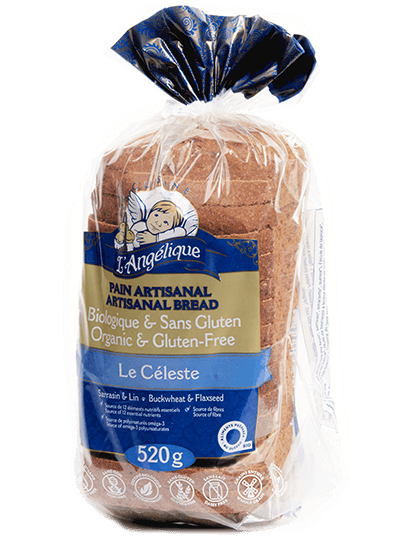 Gluten-free Le Céleste whole grain sliced bread