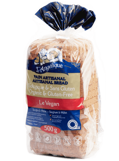 Gluten-free Le Vegan sliced bread
