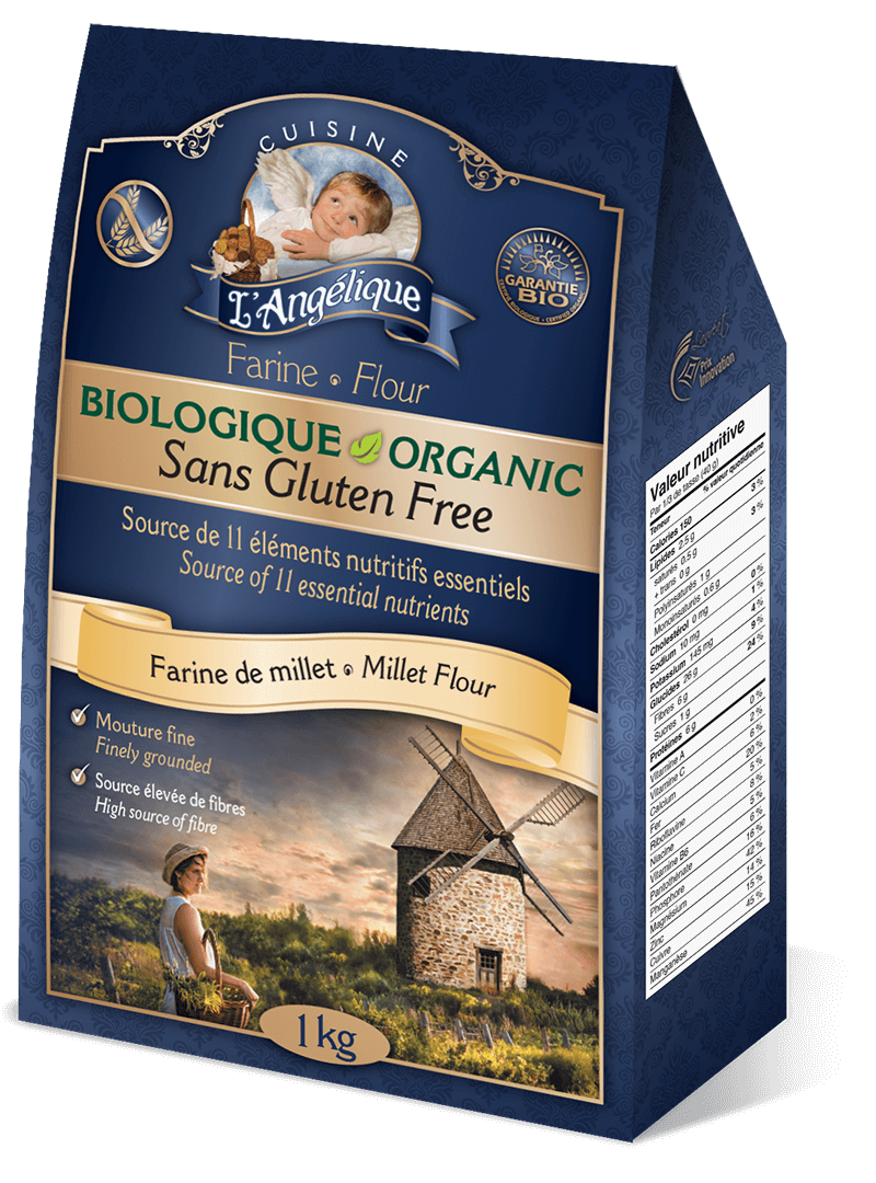 Millet flour, organic and gluten-free