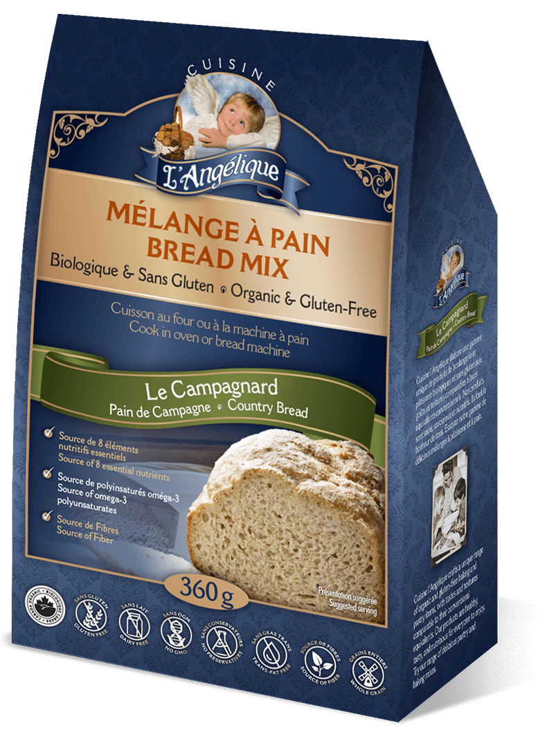 Le Campagnard Country Bread mix. Organic, gluten-free, rice-free and dairy-free.