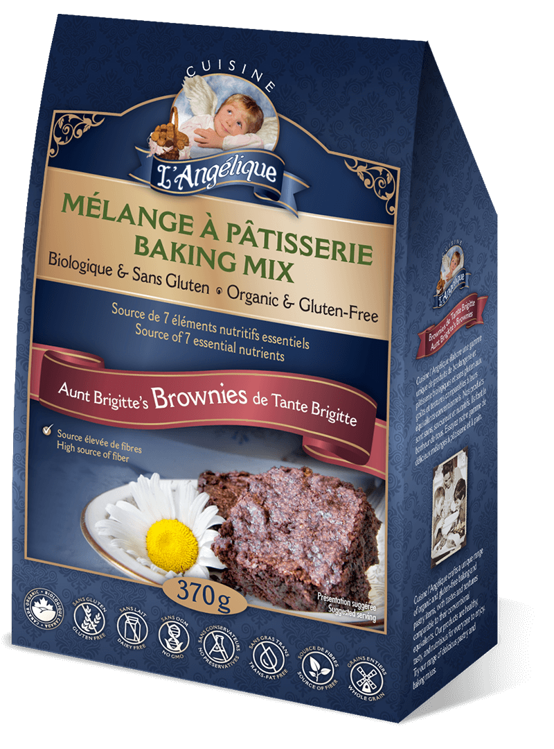 Brownie mix. Organic, gluten-free and dairy-free