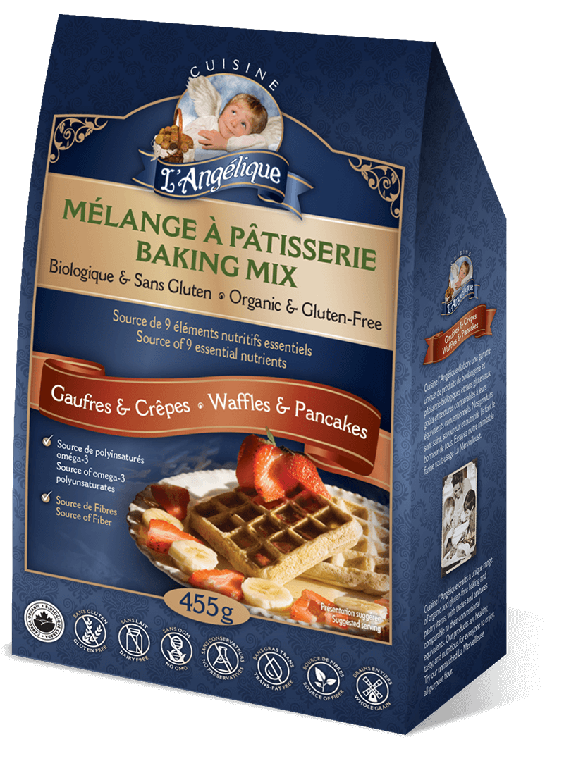Waffle and Pancake mix. Organic, gluten-free and dairy-free.