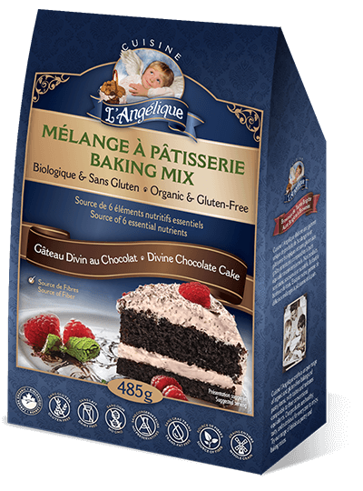 Divine chocolate cake mix Gluten-free product from Cuisine l'Angélique